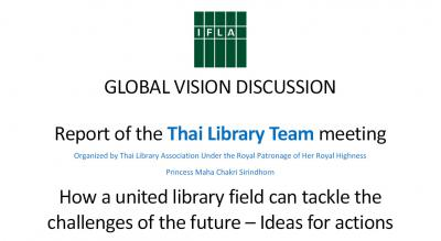 Thailand Report Global Visison Discussion
